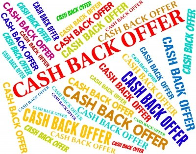 cash back offers. money back offers